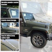 For Jeep Wrangler JK 2007 2017 Limb Riser Kit Through The jungle Protector Obstacle Eliminate Rope Car accessorise