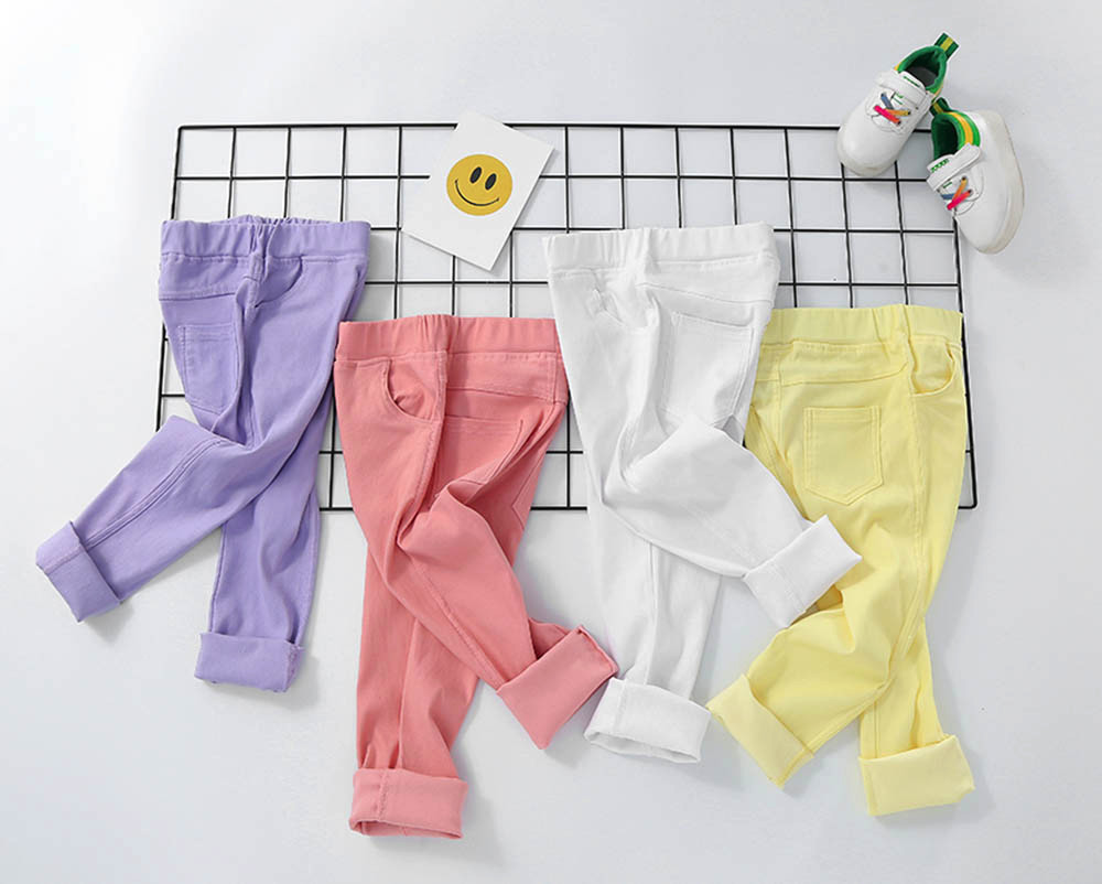 Soft Newborn Candy Color Leggings Baby Girls Trousers Kids Pants Skinny Cloth