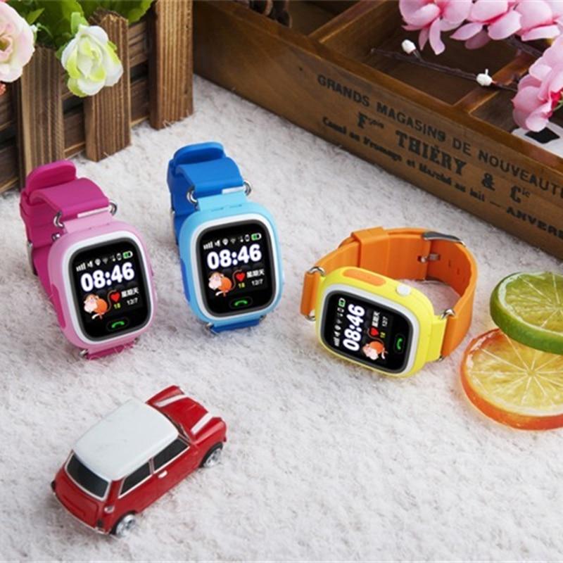Montre intelligente Q90 pour enfants SOS appel localisation localisateur dispositif Tracker enfants Anti-perte montre-bracelet meilleur cadeau pour les enfants - 4