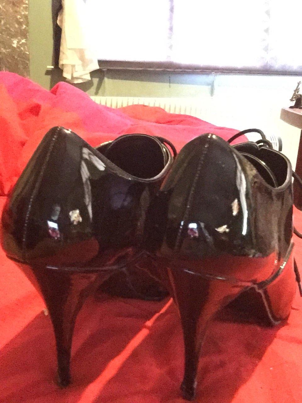 Schwarz Pumpen Kreuz Fsj01 gebunden Heels Sexy Spitz Oxford 2018 Patent 42 Frau Gladitor Leder Up 12 Größe Cm Spitze Fsj High tvAqIxw
