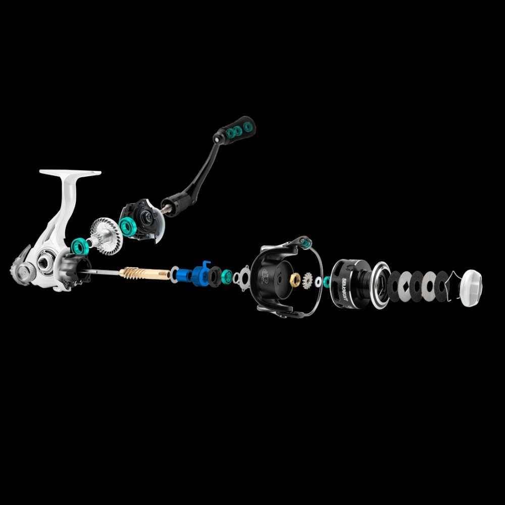 Seaknight CMII moulinet de pêche avec bobine de rechange gratuite 5.5: 1 9 + 1BB Max Drag 7 KG-13 KG 2000 3000 4000 5000 moulinet de pêche en rotation