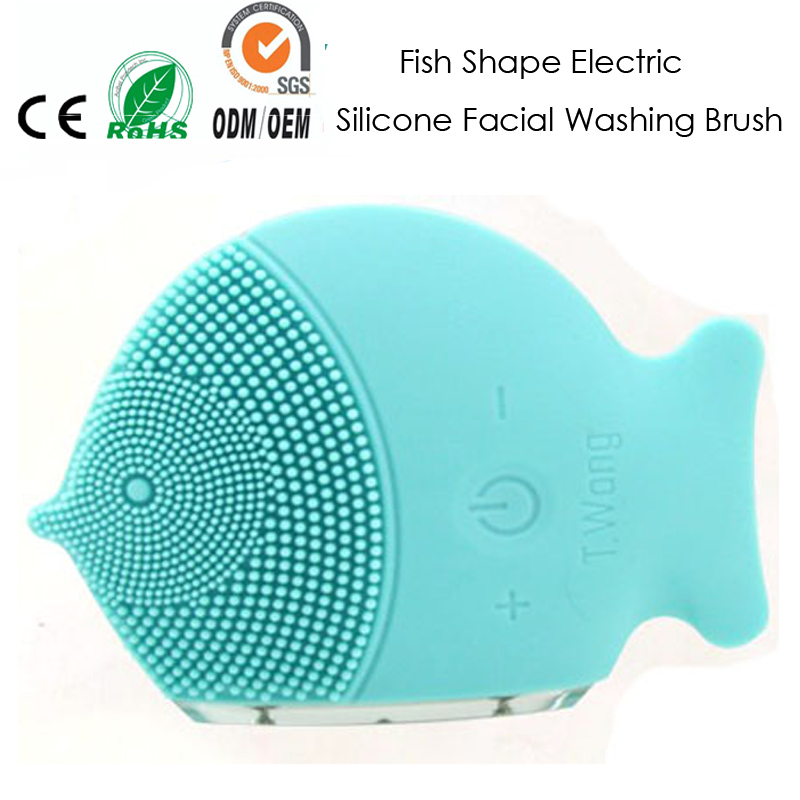 Electric Sonic Vibration Silicone Facial Pores Cleansing Face Makeup Pigment Blemish Cleaning And Skin Wash Brush Massager sonic cleansing brush cleanser wash your face wash your face massage instrument deep pores clean cleanser electric wash brush