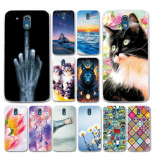 Beautiful Fundas For HTC Desire 526 326G Cases Cover Love Heart Black Phone Shell For HTC 526 526G 326 326G Dual Sim Flower Bags(China)