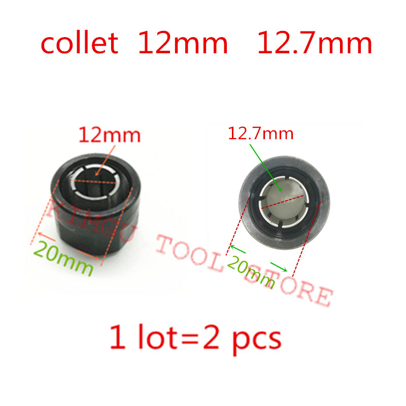 Collet Cone Nut  Chuck 12.7mm 1/2-inch 1/4-inch 323293 Replace For HITACHI 323421 M12VE M12VC M12V2 M12SE M12SA2 KM12VC Router