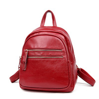 Korean Style Female Backpack Women Soft Leather Backpacks Shoulder Bags Backpack Schoolbags For Teenage Girls School