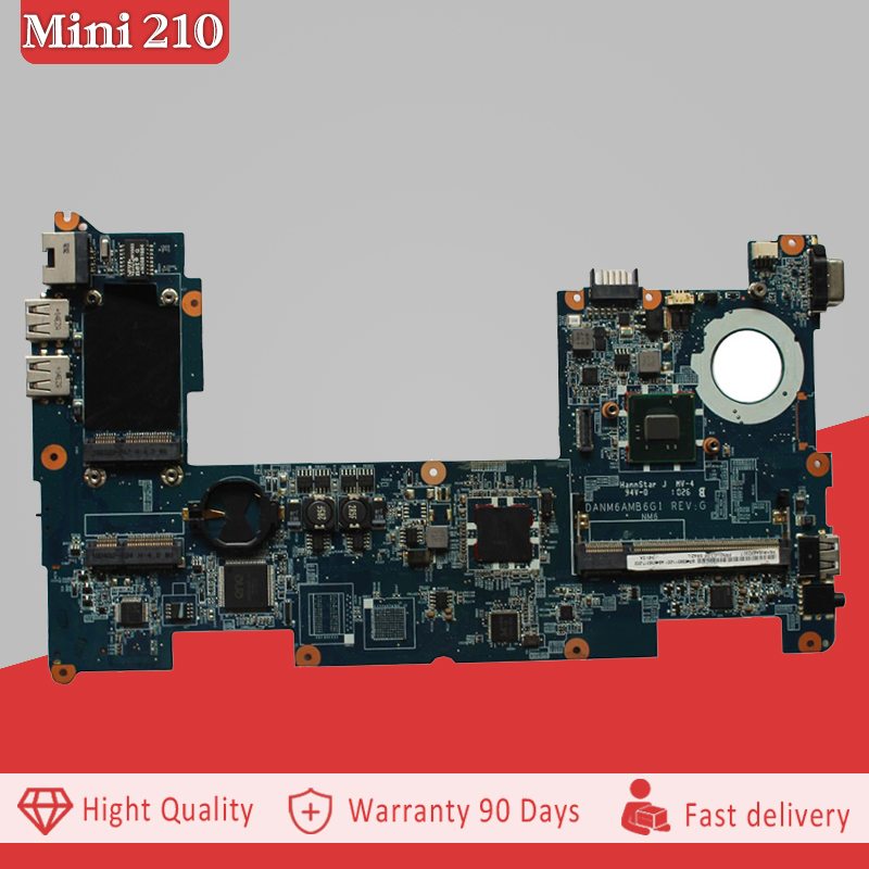 YTAI N450 processor for HP Mini 210 Laptop Motherboard with N450 CPU DDR3 598011-001 DANM6AMB6G1 REV:G Mainboard fully tested mini itx motherboard adv an tech aimb 212n s6a1e n450 twin 6 fan serial lvds 100% tested perfect quality