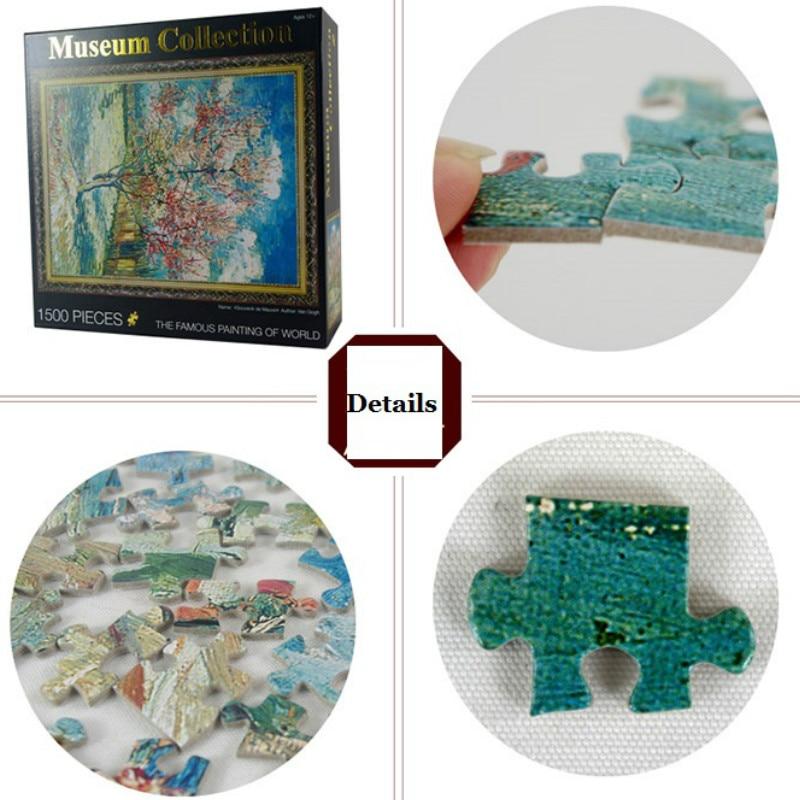 Nuevo producto Puzzle Toy 1500 Pcs Peach Flower 3D Paper - Juegos y rompecabezas - foto 2