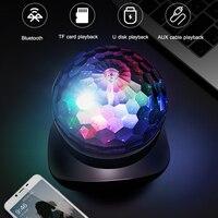 Bluetooth Speaker Audio Rotate Light Wireless Creative TF Card FM Radio Outdoor Portable Speakers
