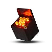 Квадратный желтый проблесковый фонарь светодиодный пиксельный кластер 28 мм светофор