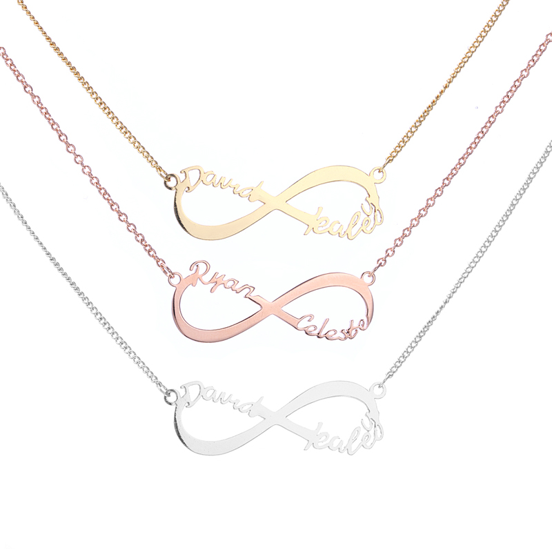 Custom Two Name Infinity Necklace