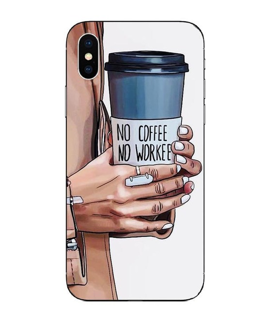 Fashion Black Brown Hair Baby Mom Girl Hard PC Case For iPhone 5S SE 6 6S Plus 7 8 Plus X10 XR XS Max Fashion Woman Phone Cover