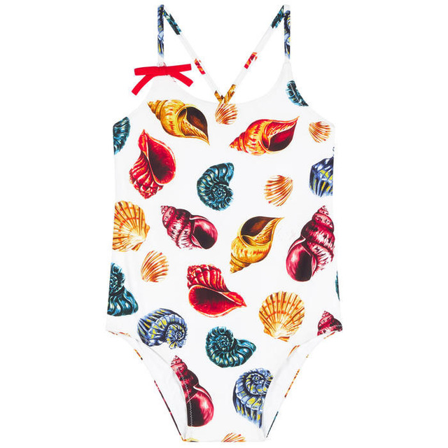 Baby Swimsuit Girls Summer Swimwear Shell Conch Printed Children Clothing Toddler One Piece Swimwear Kids Beach Swimming Clothes