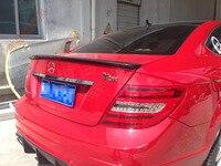 Fit for Mercedes Benz W204 C63 AMG C180 C200 C260 C280 C300 carbon fiber rear spoiler rear wing