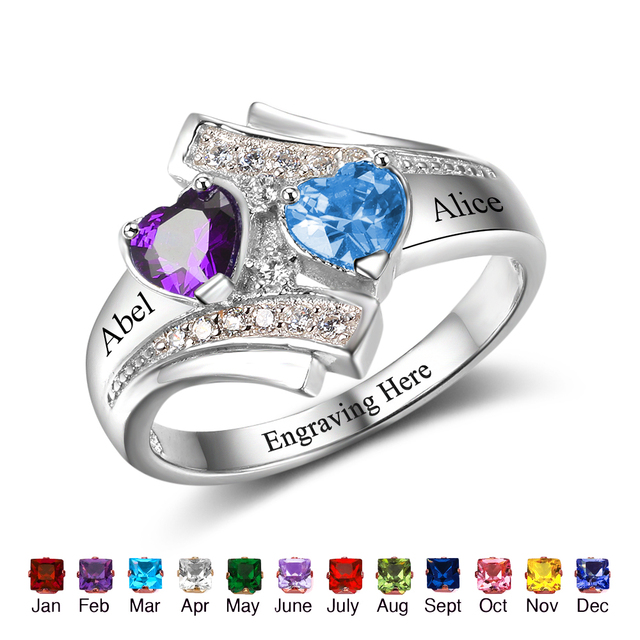 buy promise ring engrave name heart. Black Bedroom Furniture Sets. Home Design Ideas
