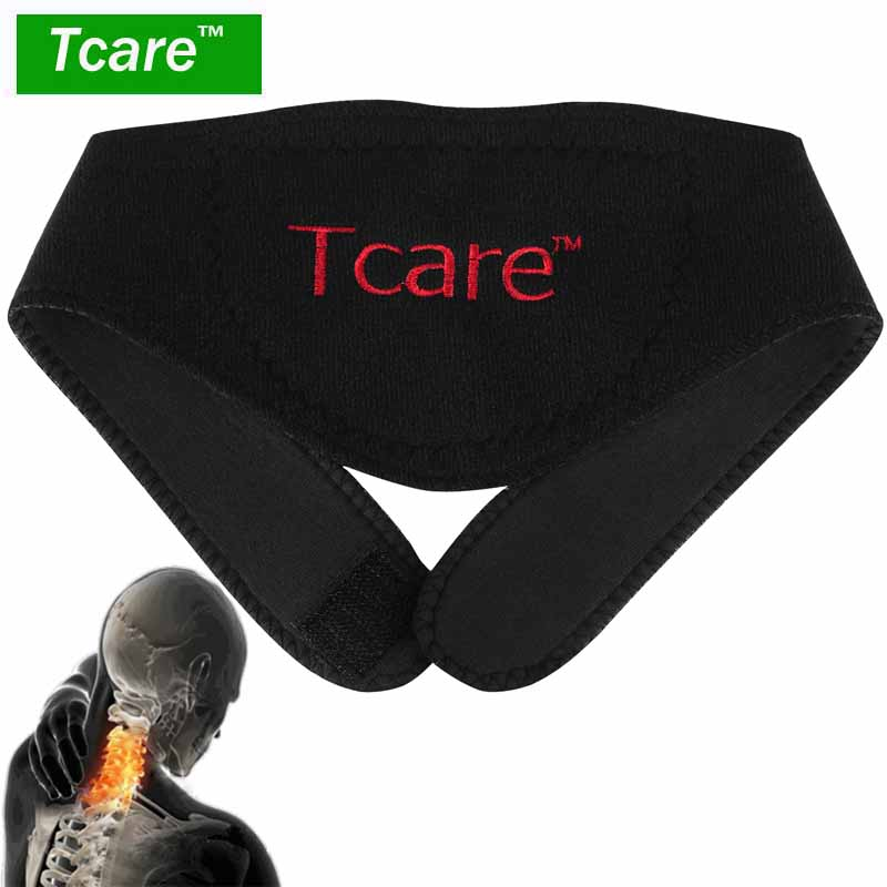* Tcare 1Pcs Tourmaline Neck Belt Pemanasan mandiri Magnetic Therapy Bungkus Perlindungan band Neck Support Massager belt Health Care