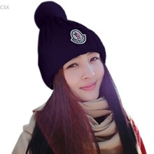 Winter Beanie Classic Crochet Knitted Hat Women Cap Beanie Headgear Headdress Head Warmer Ear Protect Chapeu Top Quality u2