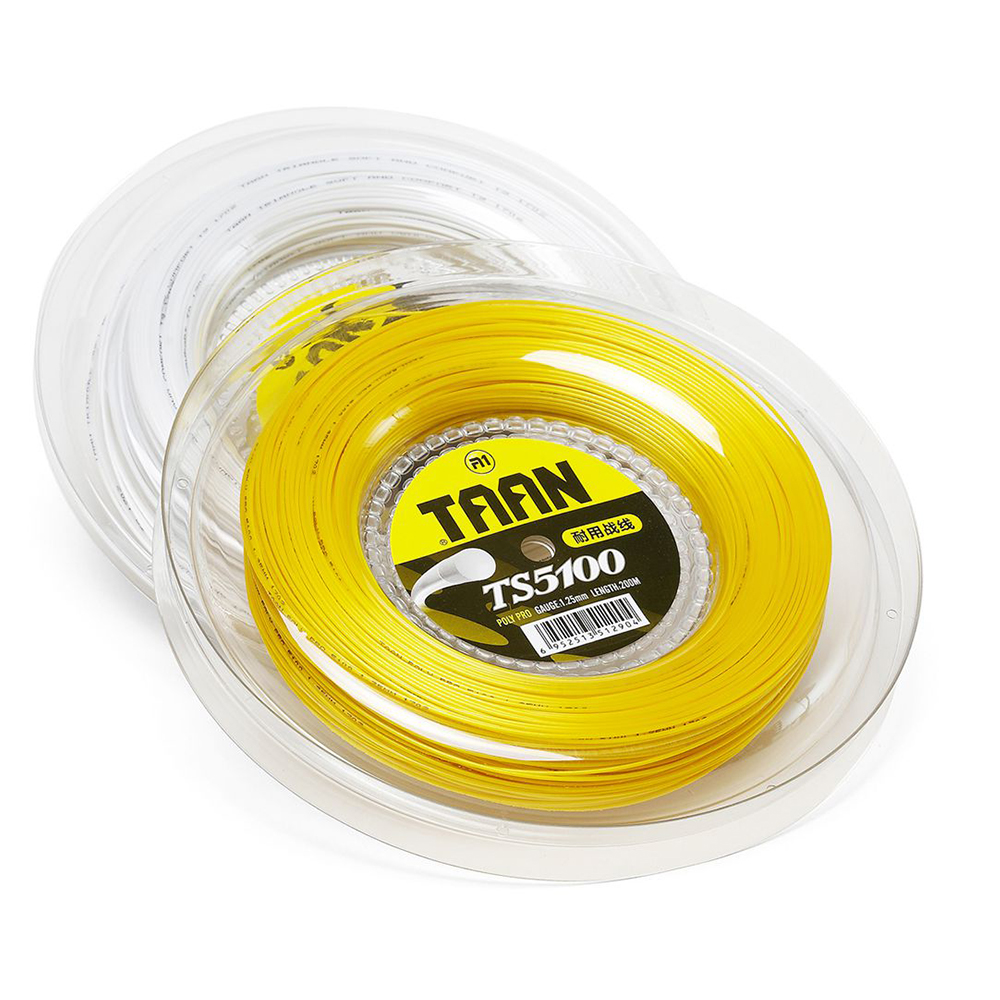 Free shipping TAAN TS5100 Polyester Tennis String 1 25mm 200m Reel Training Tennis String High Flexibility