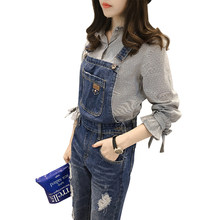 Maternity Clothing Pants Spring Autumn Light Blue Denim Plus Size Overalls Pregnant Women Large Size Suspender Trousers 4XL(China)
