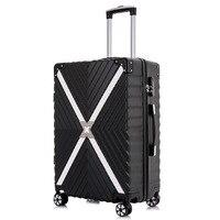 Fermuar Seyahat bavul Arabası Haddeleme Koffer Yatılı Bagaj Valiz Kabin şifreli kilit bavul mala de viagem maletas carro