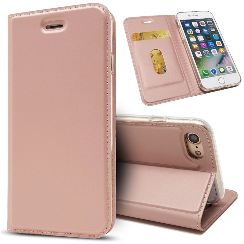 Magnetic absorption Leather Flip Case Cases Cover Wallet Phone Accessories For