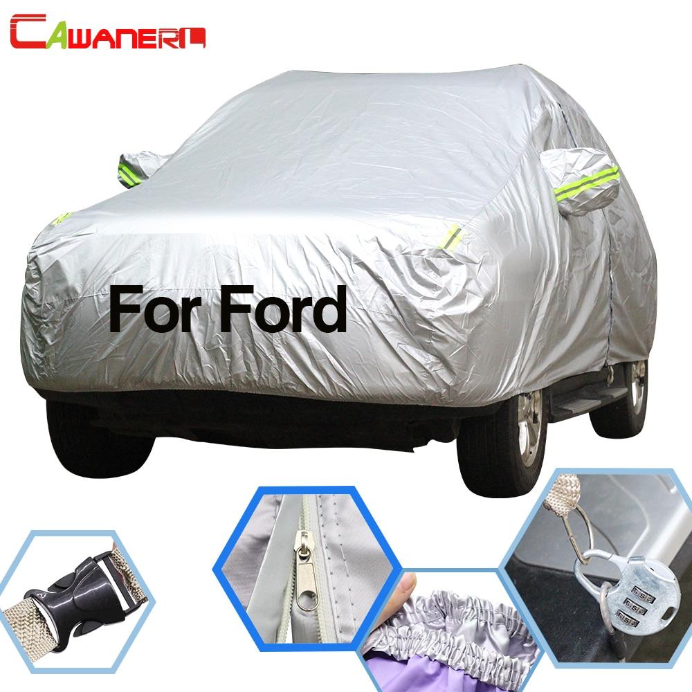 Cawanerl pour Ford Fiesta Focus Mondeo Mustang c-max Kuga Escape Edge Explorer bâche de voiture imperméable soleil pluie protecteur de neige