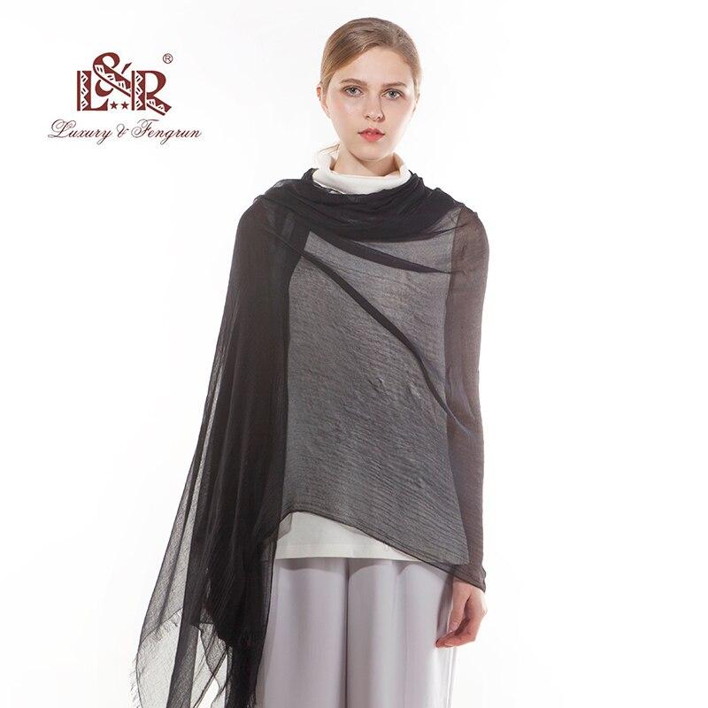 2018 Luxury Brand Women Silk Scarf Foulard Modal Chiffon Hijab Kvinna - Kläder tillbehör - Foto 5