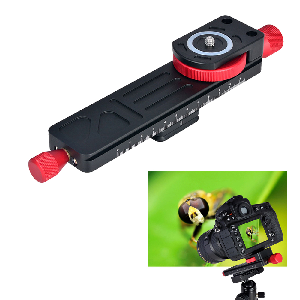 160mm Aluminum Macro Focusing Rail Slider Close-up Shooting Tripod Head For Canon For Nikon For Sony A7 A7SII A6500 DSLR Camera sony a6500