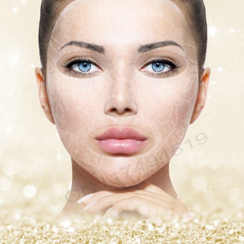 3PCS Lapte de hidrogel de lux Rejuvenate masca facială Lace Mask Cel mai bun mască de îngrijire a pielii Mască de față regină romantică și eficientă
