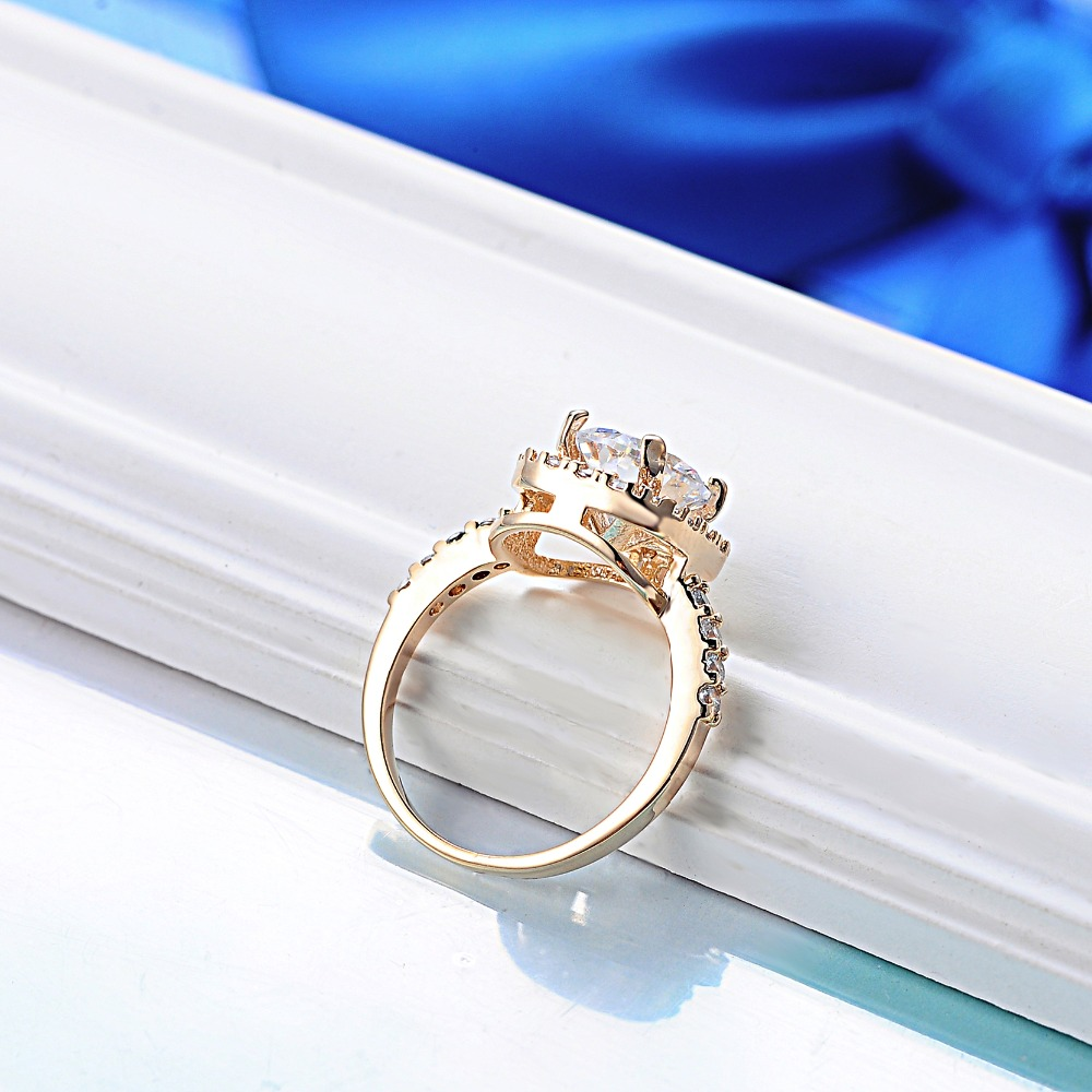 big blue product fashion stone accessories sapphire ring rings zircon silver jewelry women wedding plated beautiful water