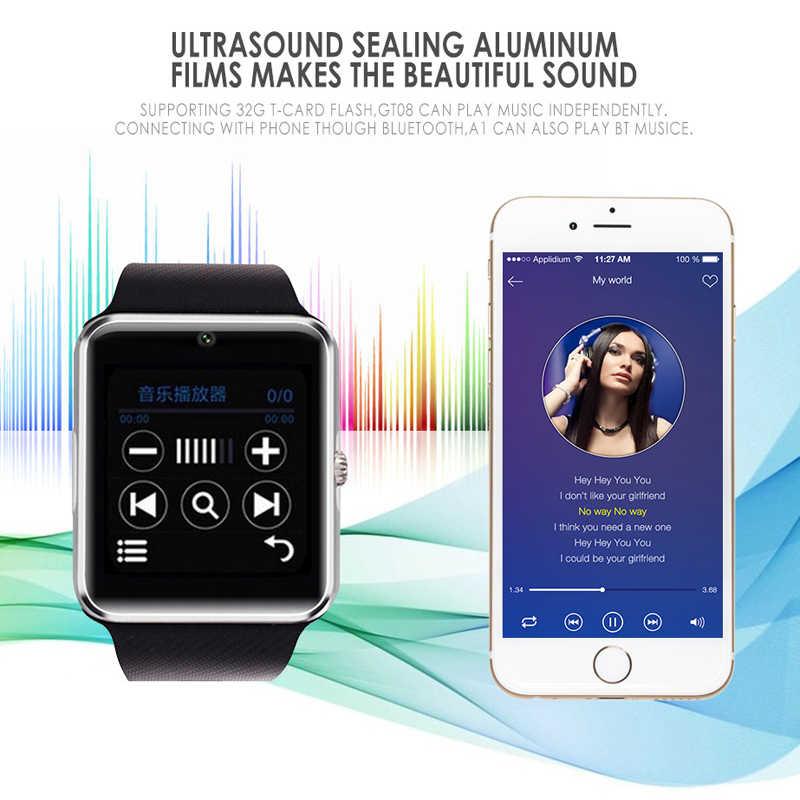למעלה למכור שעוני יד Bluetooth חכם שעון ספורט מד צעדים עם ה-SIM מצלמה Smartwatch עבור אנדרואיד טלפון PK GT08 DZ09 Q18 Y1 v8