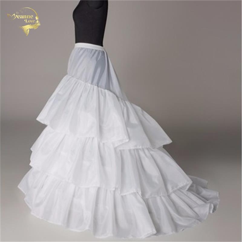 Novia Enaguas Underskirt Wedding Skirt Slip Wedding Accessories Chemise 3 three Hoops For A Line Tail