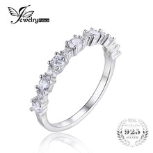 JewelryPalace 925 Sterling Silver Band Ring a Lot of AAA Fashion Design for engagement Fine Jewelry for Women