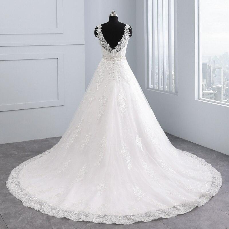 Vestido Brautkleider De Backless Neue Kristall 2018 Kleider Noiva ausschnitt Sexy Hochzeit Appliques Design Spitze V Miaoduo Ballkleid d85qTUdO