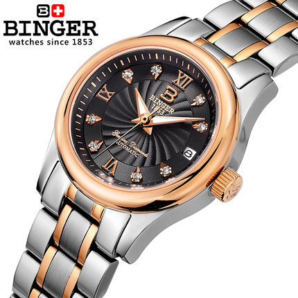 Binger New women s fashion dress listed luxury CZ diamond watches ladies Sports watch high quality
