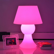 Colors changeable 24in big LED rechargeable table lamp waterproof reading light with 110/220V adapter and remote controller
