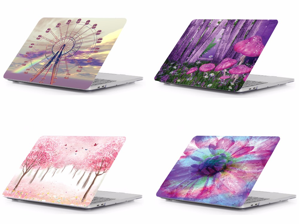 Laptop Print Pattern Protective Hard Shell Case Keyboard Cover Skin For 11 12 13 15 Apple Macbook Air Pro Retina Touch Bar QA