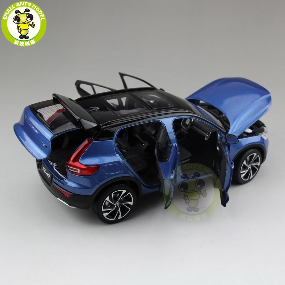 1/18 nuevo Volvo XC40 SUV fundido Metal coche SUV modelo niño niña regalo Hobby colección Color azul-in Troquelado y vehículos de juguete from Juguetes y pasatiempos    3