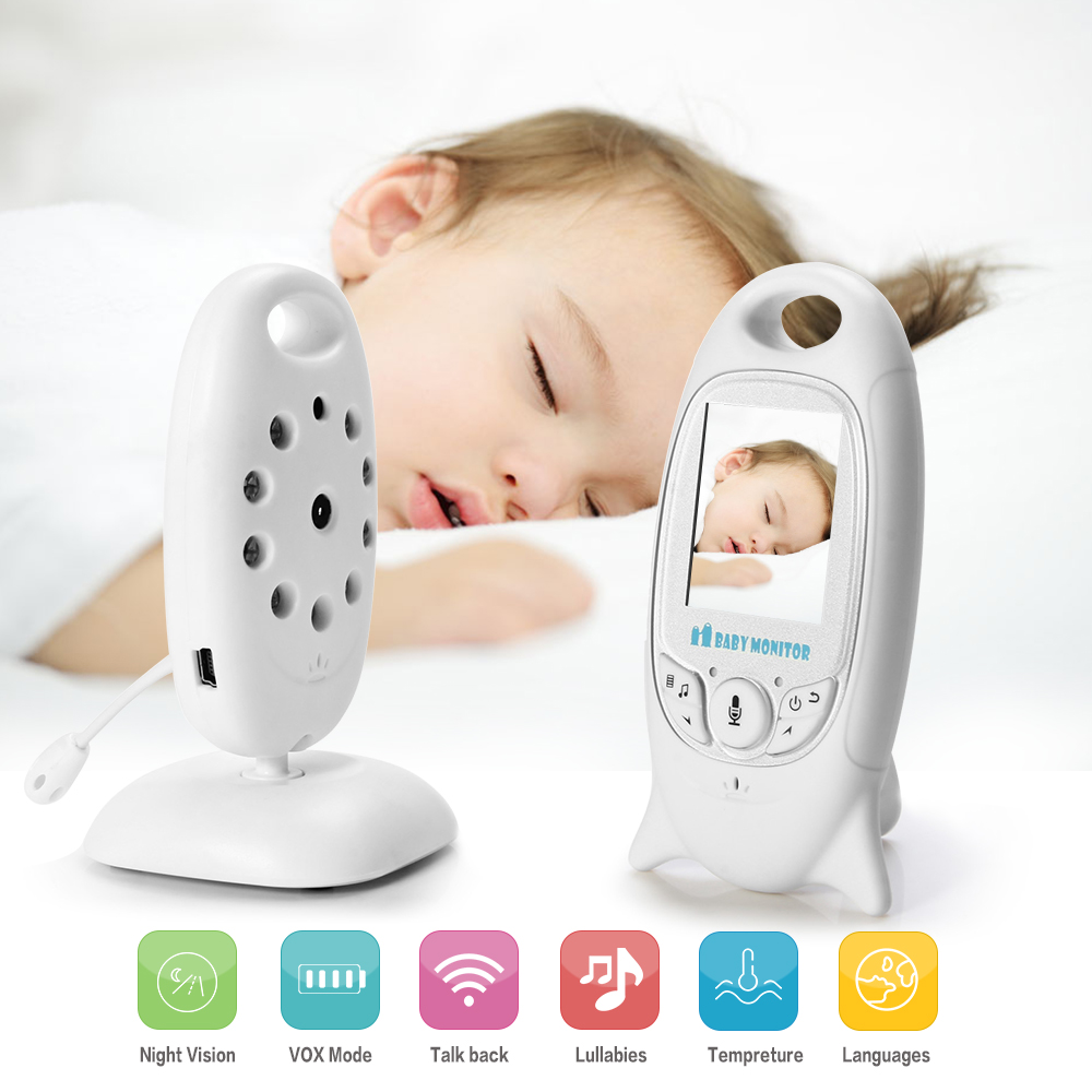 EU Plug Fimei Wireless Video Baby Monitor 2.0 inch Color Security Camera 2 Way Talk Night Vision IR LED Temperature Monitoring video monitor 2 0 inch wireless security camera 2 way talk night vision ir led temperature baby monitoring with music