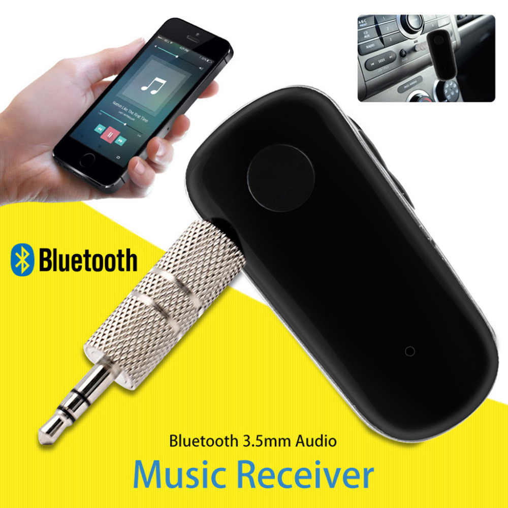 Manos Libres Inalambrico Para Coche Mini Kit Bluetooth Inalámbrico Para Coche Manos Libres 3 5mm Jack Aux Audio Receptor Adaptador Mini Inalámbrico Bluetooth Kit De Coche Manos 1 30