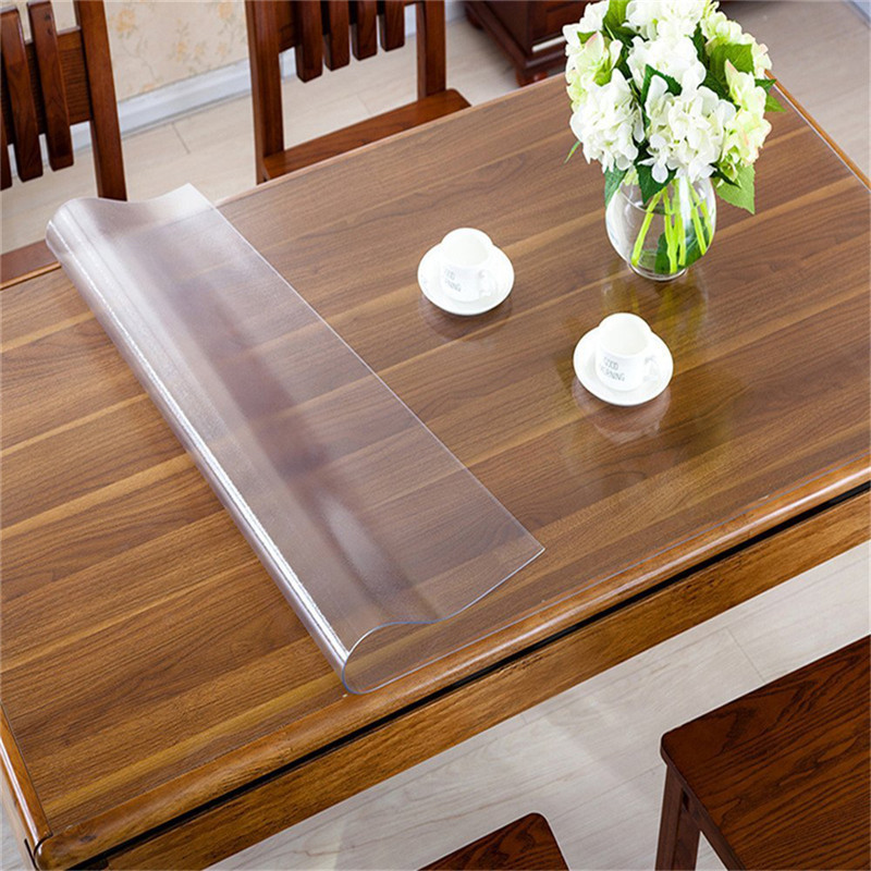 Rectangle Oilproof Table Cover Clear Matte PVC Tablecloth