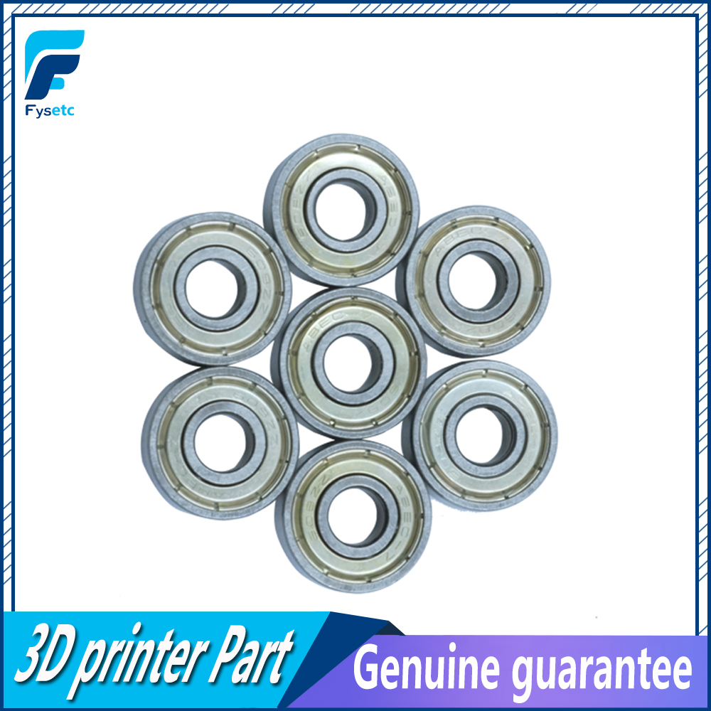 10pcs Double Shielded Miniature High-carbon Steel Single Row 608ZZ ABEC-7 Deep Groove Ball Bearing 8*22*7 8x22x7 mm 608 ZZ image