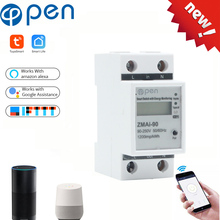 WIFI  remote control Smart Switch with energy Single phase Din rail WIFI Smart Energy Meter