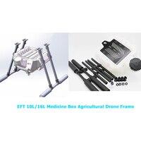 EFT 10L/16L аптечка сельскохозяйственная рама беспилотника из углеродного волокна защита растений Дрон стенд