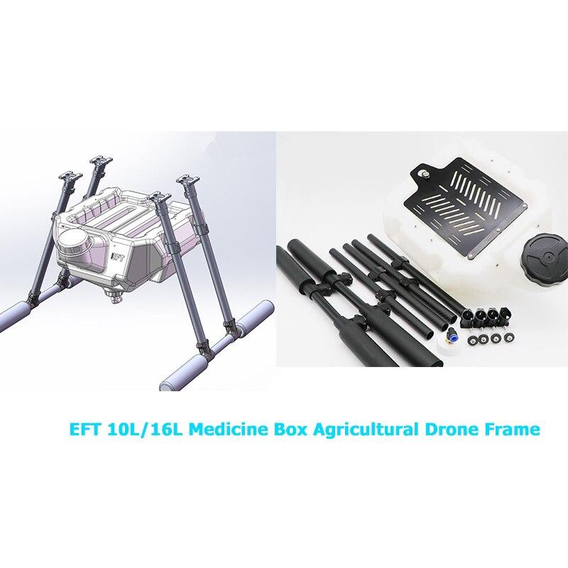 Support de drone de protection des plantes en fibre de carbone pour cadre de drone agricole EFT 10L/16L