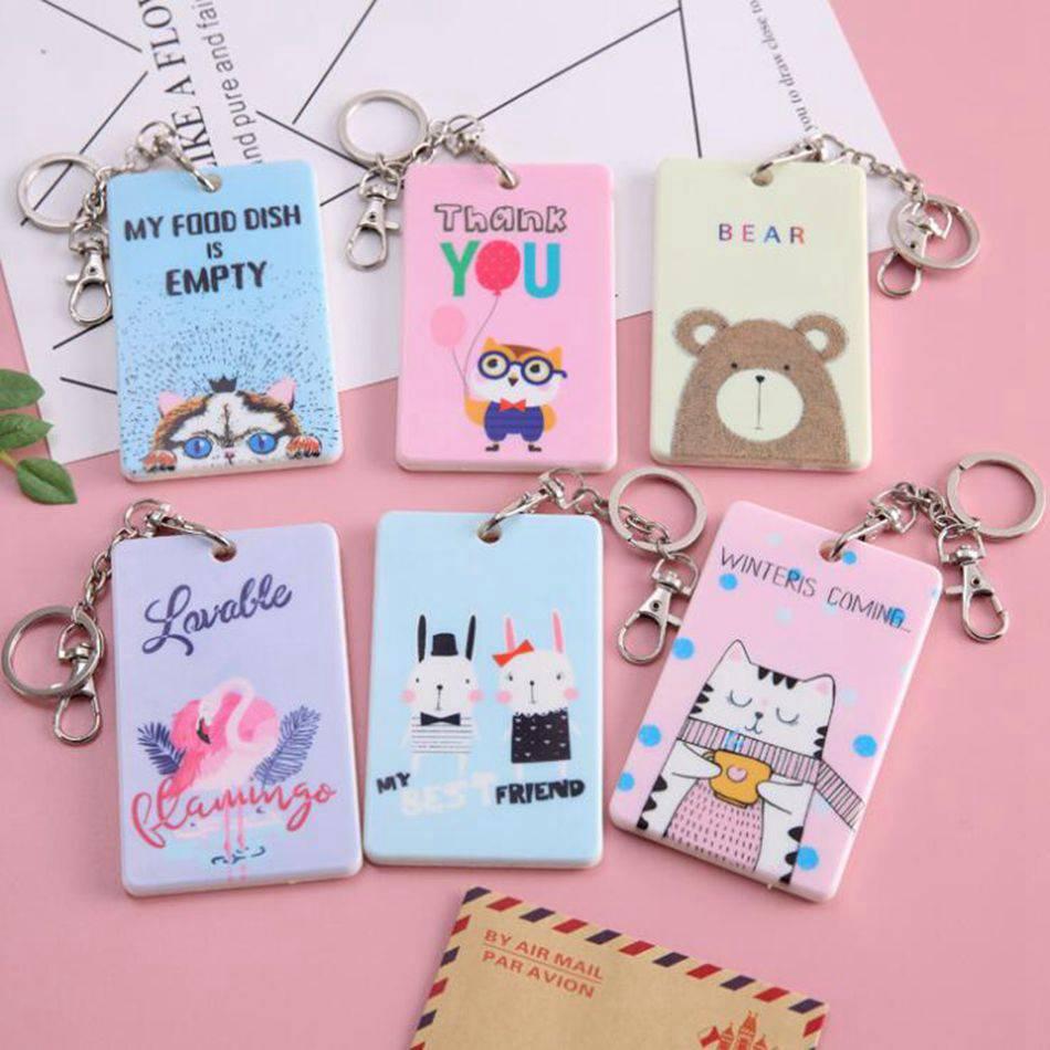 Cartoon Credit Card Holder Cover Case Women PVC Cute Kids Bank ID Card Bag Wallet Female Porte Carte Passport Cover Kaarthouder