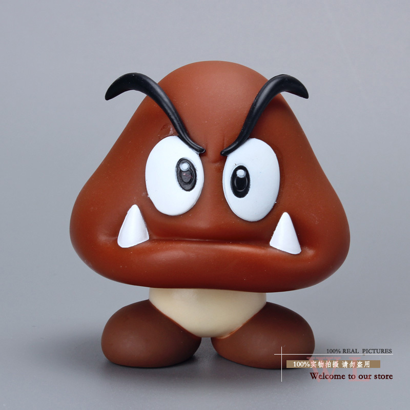 Super Mario Bros Figures Goomba PVC Action Figure Model Toy Doll Classic Toys 3.5