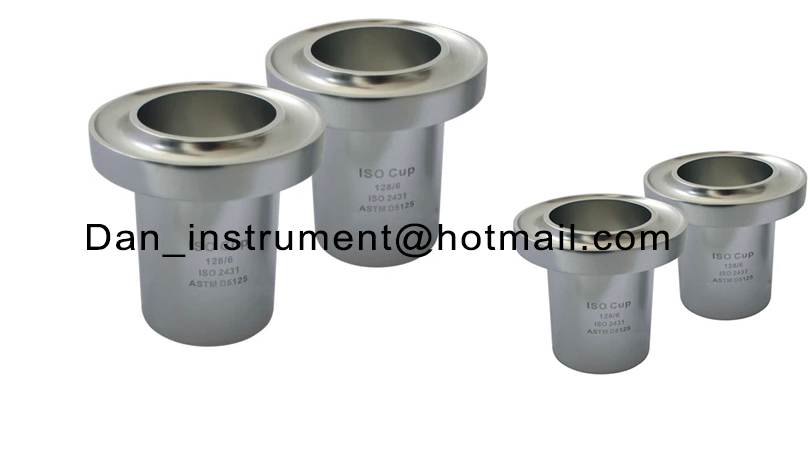 High quality ISO flow Cup with  standard ISO 2431 DIN 53224 EN 535 ASTM D5125 3# 4# 5# 6# 8# high quality 37ml stainless steel density specific gravity cups with din 53217 iso 2811 and bs 3900 a19 standard