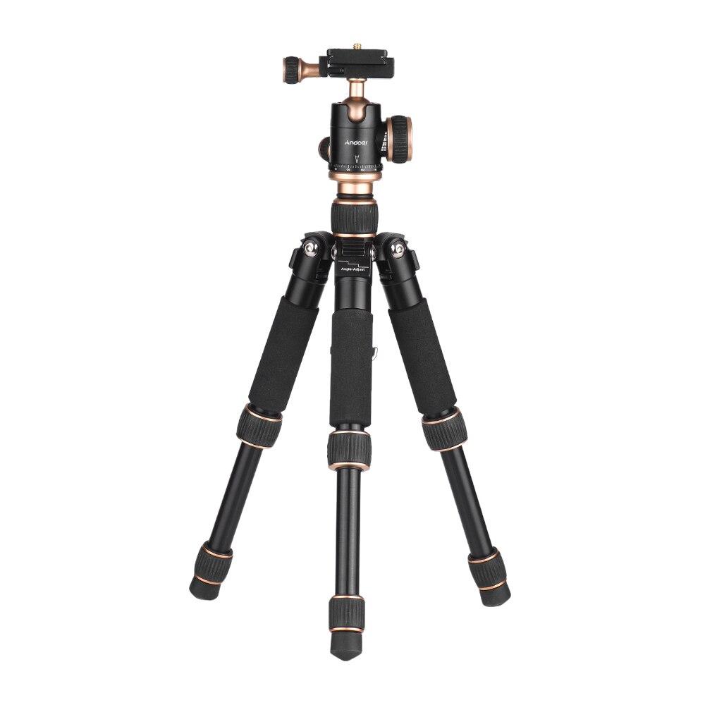 Andoer 53cm 21 Travel Portable Mini tripod Tabletod brandreth Quick Release Plate for Canon Nikon Sony
