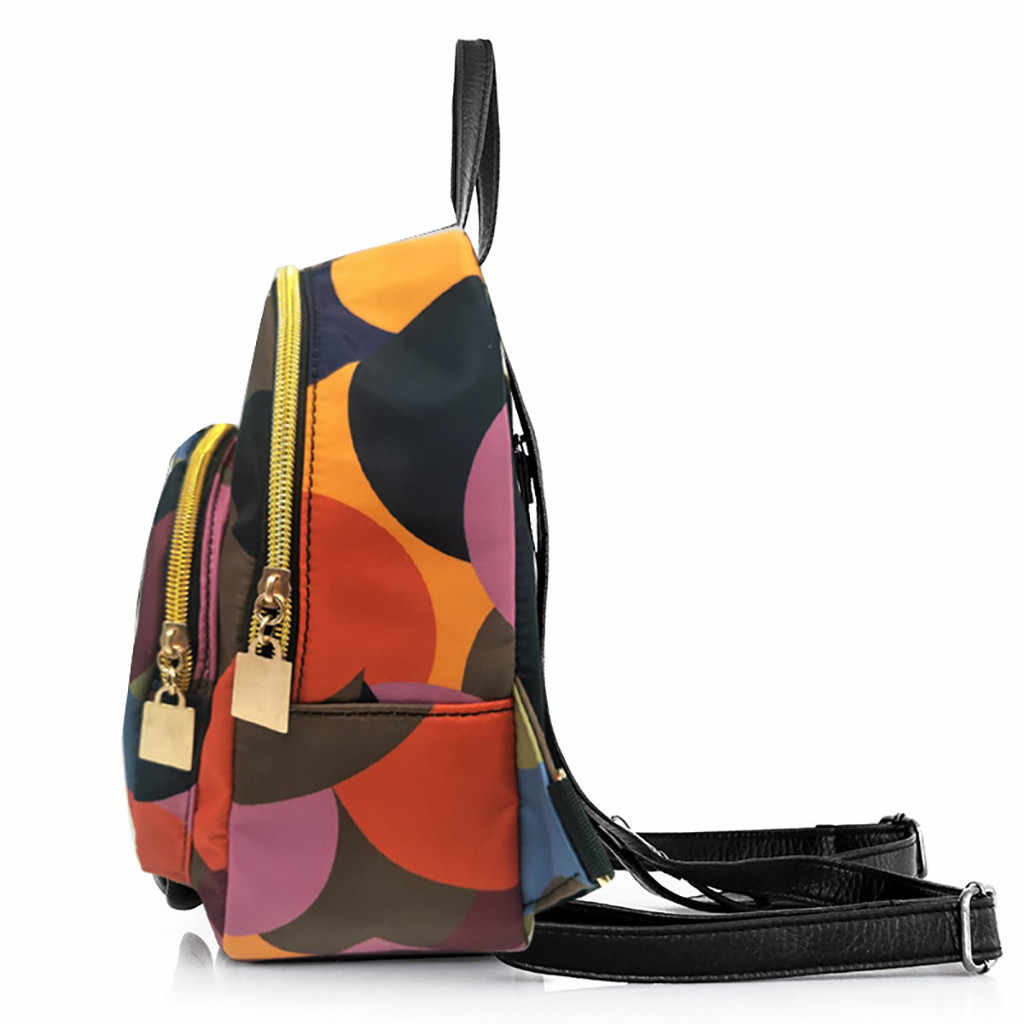 Oxford ผ้ากระเป๋าเป้สะพายหลัง Colorblock กันน้ำนักเรียนสาววัยรุ่นแล็ปท็อปกระเป๋าเป้สะพายหลัง Patchwork กระเป๋าเดินทางนักเรียนกระเป๋า S