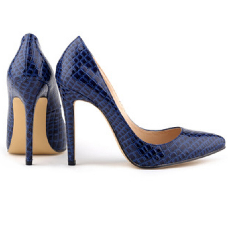6926570019a4 Women Sexy Pumps Ladies Crocodile Grain Pattern Pointed Toe Red Bottom High  Heels Stilettos Fashion Wedding Party Shoes 3.5-11